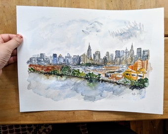 Custom Watercolor Commission - Your Home, Town, City, State