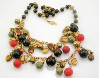 """Coldwater Creek Beaded Necklace  19""""  2"""" ext"""