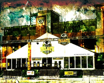 Lambeau Field, Tundra Tailgate Zone, Green Bay Packers, Home Decor, Packers Art, Packers Decor