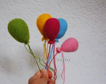Felted Baloons