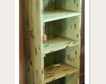Rustic Green Star Shelf