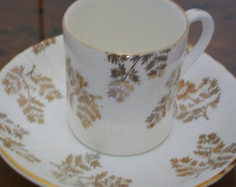 vintage coffee cup and saucer, bone china, England