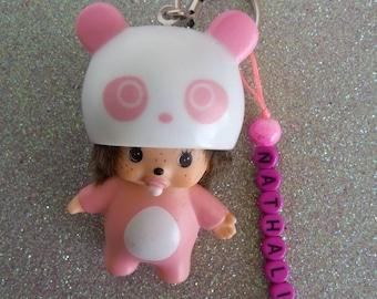 Wearing pink Montchichi key