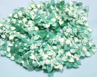 100 Green Color  Flower sequins/KBSF402