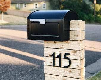 3 inch Art Deco House or Mailbox Post Numbers Letters