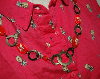 red fruit necklace