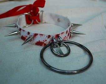 Blood splatter Halloween Collar
