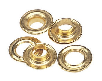 12 Qty-osborne-no. G3-2 Brass Self Piercing Grommets & Plain Washers (13068)