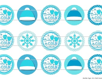 "15 It's Cold Outside 1 Digital Download for 1"" Bottle Caps (4x6)"