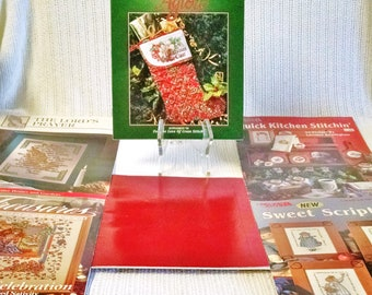 6 vintage booklets of cross stitch patterns ~ good condition ~ likely never used ~ personal use or gift ~ many religious patterns