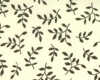 Mary Engelbreit for Moda, Recipe for Friendship, Fern in Butter Cream and Black 18029-26 - 1 Yard Clearance