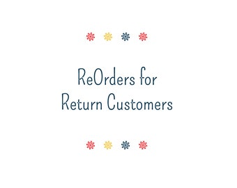 Re-Orders With NO Edits - White Fabric Labels - Returning Customers Can Just Order Here For a Discount!