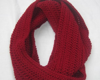 Deep Red Infinity Scarf