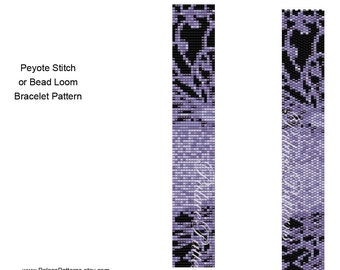 Loom and Peyote Stitch Bracelet Patterns, Pattern 166, Delica Bead Bracelet Pattern, Peyote Stitch Cuff Pattern, Loom Cuff Pattern