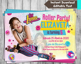 INSTANT DOWNLOAD-Soy Luna Invitation for Birthday Soy Luna Birthday, Soy Luna Invitation, Soy Luna, Soy Luna Invite, Soy Luna Editable