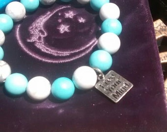 Free Your Mind Howlite Gemstone Bracelet