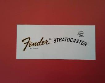 Custom 73' Fender Stratocaster Waterslide Restoration Decals - Two custom waterslide decals