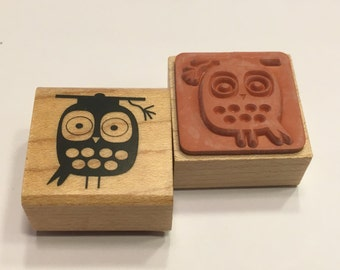 small owl rubber stamp, 20 mm (BB4/1)
