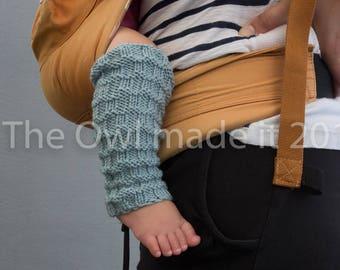 Baby Leg warmers/ Toddler leg warmers|  Merino Wool leg warmer| Toddler gift| Babywearing | Kids Knit accessories| UK seller
