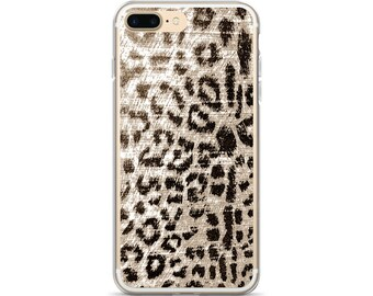 Animal Print iPhone 7 Plus Case Snow Leopard iPhone 7 Case Black and White Leopard Print iPhone 8 Plus Case Leopard iPhone 6 Plus Case