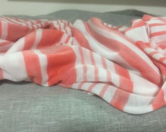 2 yards Jersey knit/off white coral soft jersey knit/scarf knit fabric/knit fabric/stretchy fabric/soft stretchy knit fabric - K10
