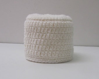 Toilet Paper Cover Spare Double Roll Cozy Toilet Paper Storage~White~