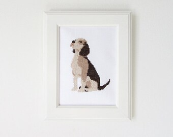 Beagle - Dog cross stitch pattern - PDF - Instant download