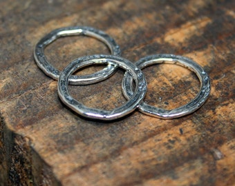Links Three sterling silver  18mm Round
