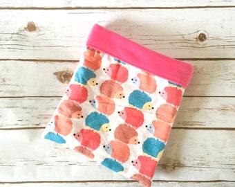 Cute Hedgehog Cuddle Sack |Bonding Bag | Hedgehog Accessories | Guinea Pig Pet Bed| Sugar Glider Sleep Sack | Burrow Bag