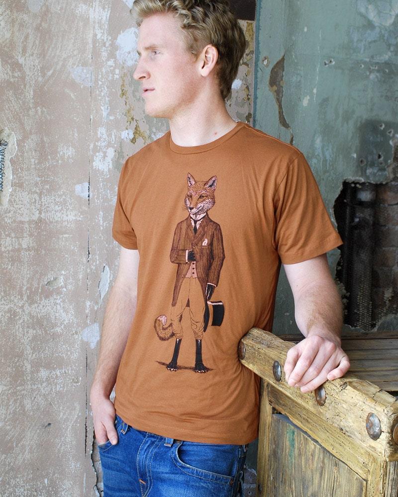 Dapper Fox T-shirt - Men's Tshirt - Men's Gift - Animal Print - Husband Gift - Fox Shirt