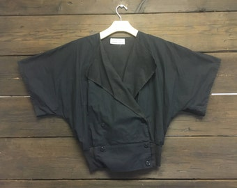 Vintage 80's Womens Double Breasted Top