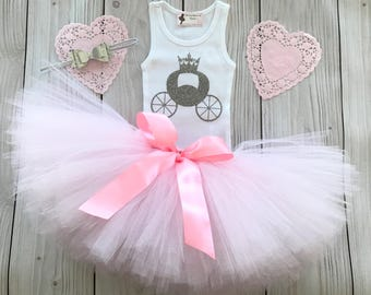 Pink Cinderella Baby Girl 1st Birthday Outfit | Baby Tutu | Tutu Dress | Birthday Dress | Baby Girls Cake Smash Outfits | Birthday Tutu