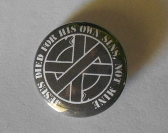 "CRASS 1.25"" Pinback Button"