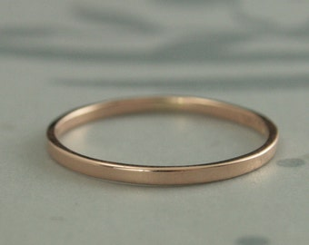 Rose Gold Wedding Band--Thin Rose Gold Band--Rose Gold Women's Wedding Band--Rose Gold Wedding Ring--Petite Rose Gold Ring-Rose Gold Stacker