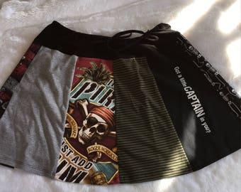 A Pirate Attitude Drawstring Skirt (size 8-12/14)