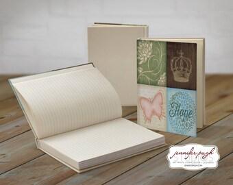 Dream Dragonfly 5x7 Hardback Bound Journal -Inspirational, Word Art