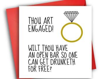 Engagement card/ Greetings card