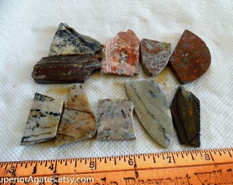 Small 1 Cab Lapidary Slabettes And Small Random Cuts #40