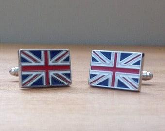 Union Jack British flag cufflinks