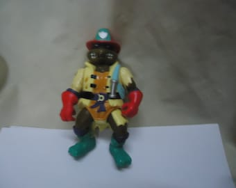 Vintage 1991 TMNT Teenage Mutant Ninja Turtles Hose 'Em Down Don Action Figure Toy by Mirage Studios, Playmate, collectable, Fireman