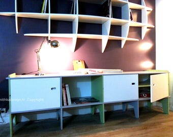 Sideboard design Retro Long wooden