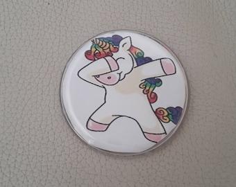 Unicorn badge brooch