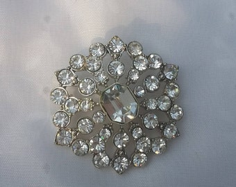 Costume Jewelry Rhinestone Brooch Costume Pin
