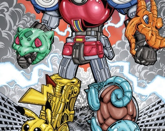 Mighty Morphin Poke'Rangers Poster