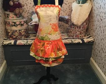 Southern Garden  floral ruffle apron