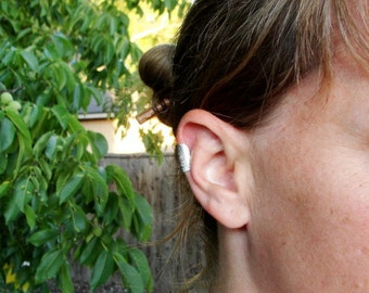 Sterling Silver Floral Ear Cuff. Minimalist. No piercing.