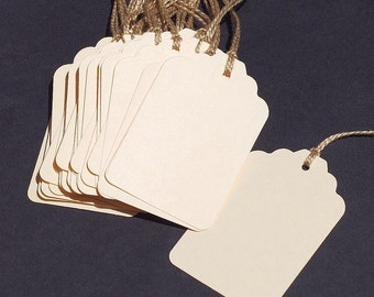 Blank Gift Tags- 25 DIY wedding favor tags, plain paper tags, hang tags, recycled gift tags, bridal shower tags, baby shower tags