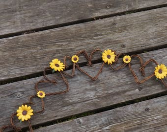 Rustic Sunflower Garland For Floral Wedding Decor By The Foot