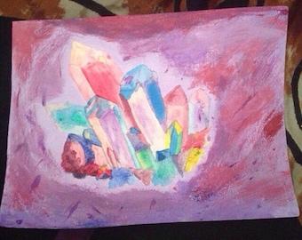 Crystal cluster art