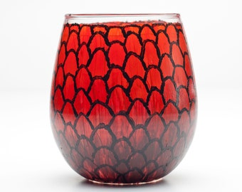 Game of Thrones Dragon Egg Stemless Wine Glass (Red)